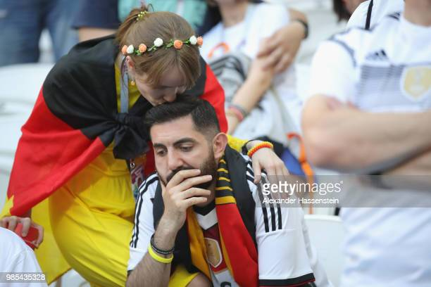 Suppoertes of Germany looks dejected following her team sides defeat in the 2018 FIFA World Cup Russia group F match between Korea Republic and...