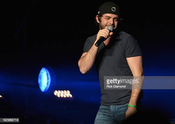 Support act Thomas Rhett performs during Jason Aldean sold out 'Night Train Tour 2013' to Madison Square Garden on March 2 2013 in New York City