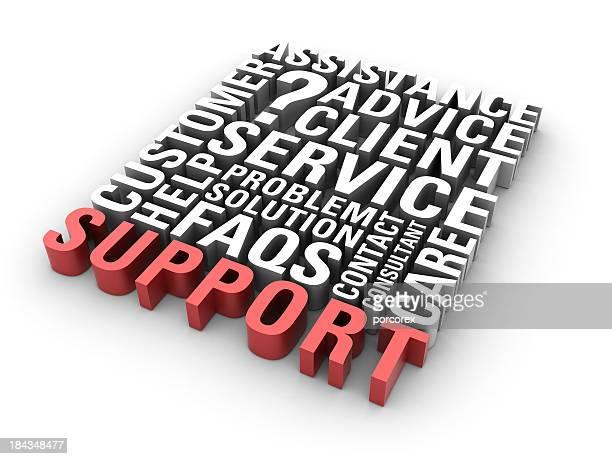 Unterstützung Konzept Wörter