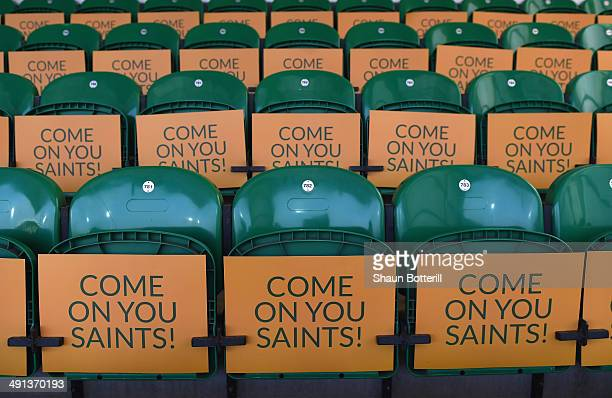 Support for Northampton Saints before the Aviva Premiership Semi Final match between Northampton Saints and Leicester Tigers at Franklin's Gardens on...