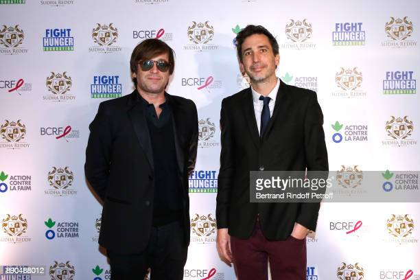 Support of Action Contre La Faim singer Thomas Dutronc and President of Action Contre La Faim Thomas Ribemont attend Indian millionaire Sudha Reddy...