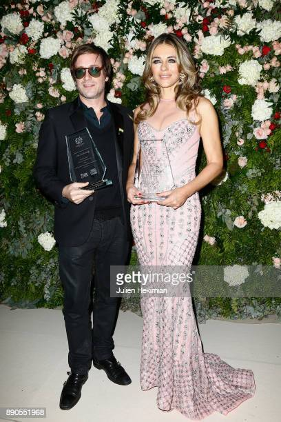 Support of 'Action Contre La Faim' singer Thomas Dutronc and Support of 'Breast Cancer Research Foundation' actress Elizabeth Hurley attend Indian...