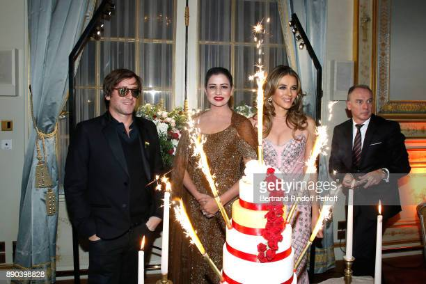 Support of 'Action Contre La Faim' singer Thomas Dutronc Indian millionaire Sudha Reddy and Support of 'Breast Cancer Research Foundation' actress...
