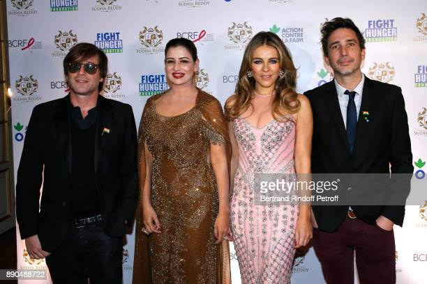 Support of Action Contre La Faim singer Thomas Dutronc Indian millionaire Sudha Reddy Support of Breast Cancer Research Foundation actress Elizabeth...