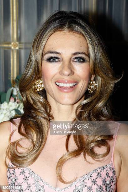 Support of 'Breast Cancer Research Foundation' actress Elizabeth Hurley attends as Sudha Reddy gives 135000 Euros to the 'Action Contre La Faim'...