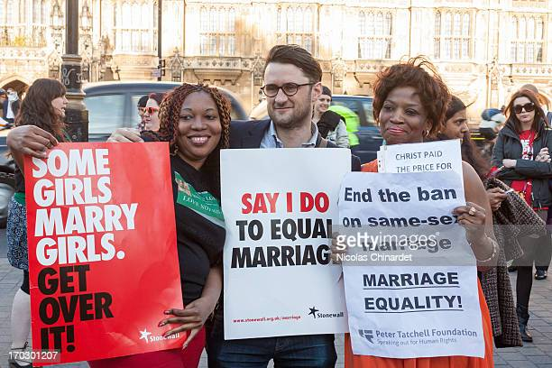 Support of the bill posing for camera at the second vigil in support of equal marriage outside Parliament