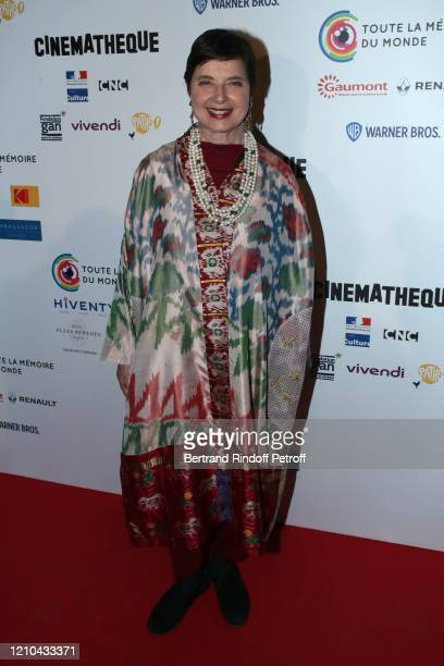 "Support of the Festival, actress Isabella Rossellini attends the ""Toute La Memoire du Monde"" Festival at la Cinematheque on March 04, 2020 in Paris,..."