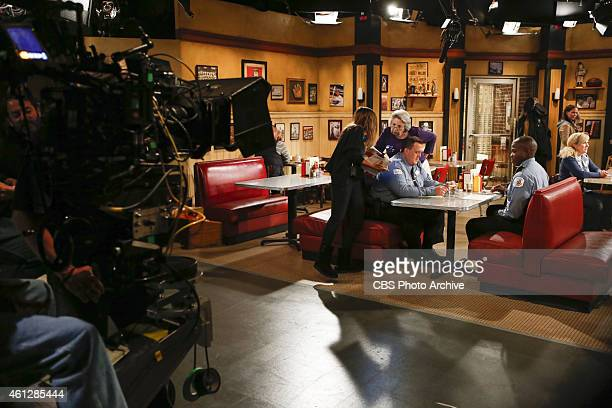 Support Your Local Samuel Behind the scenes of the CBS series MIKE MOLLY scheduled to air on the CBS Television Network Pictured LR Billy Gardell and...