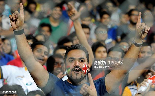 A supporter during the ICC World Twenty20 India 2016 match between South Africa and England at the Wankhede stadium on March 18 2016 in Mumbai India