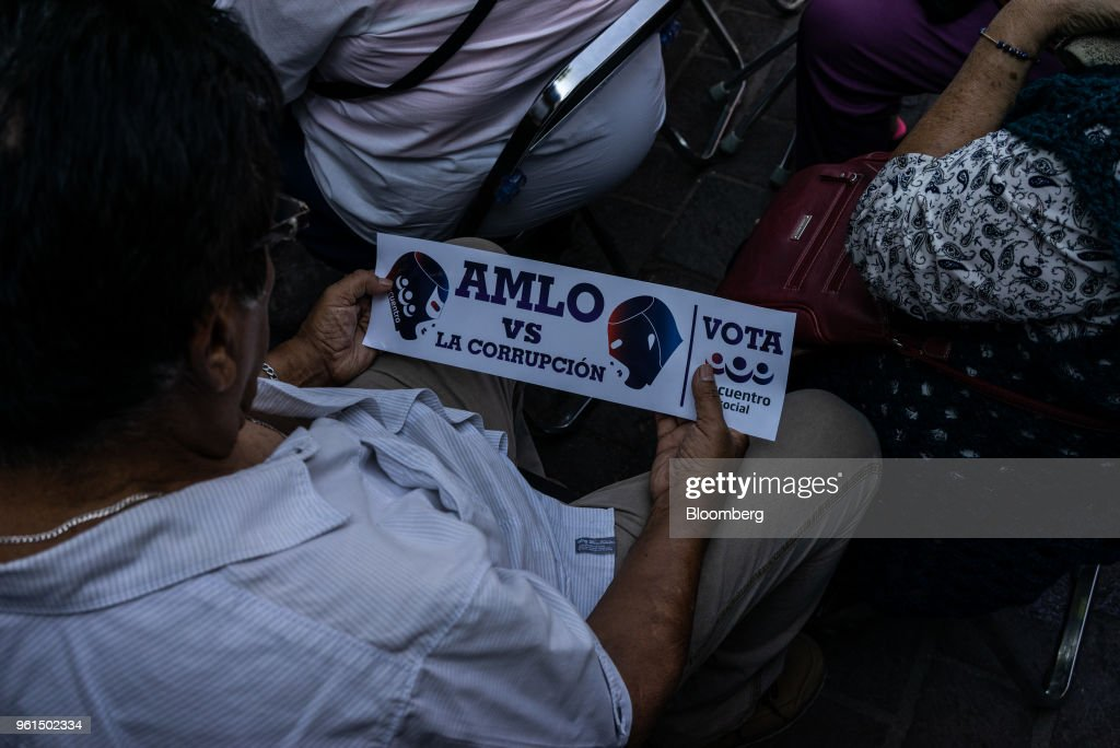 Morena Presidential Candidate Lopez Obrador Holds Campaign Rallies