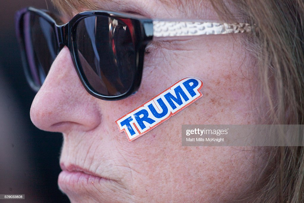 GOP Republican Candidate Donald Trump Holds Rally In Lynden, Washington : News Photo