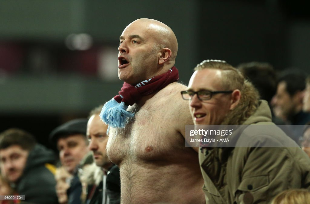 A supporter of Aston Villa during the Sky Bet Championship match between Aston Villa and Wolverhampton Wanderers at Villa Park on March 10, 2018 in Birmingham, England.