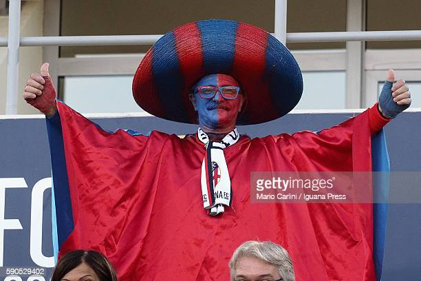 Supporter of Bologna looks over during the Tim Cup match between Bologna FC andTrapani Calcio at Stadio Renato Dall'Ara on August 12, 2016 in...