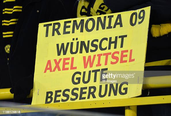Supporter Of Borussia Dortmund With Banner During The Uefa Champions News Photo Getty Images