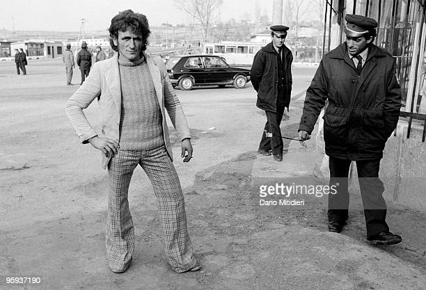 A supporter of Democratic Party leader Sali Berisha enjoys a walk in central Tirana following the fall of the Communist regime in 1991 Sali Berisha...