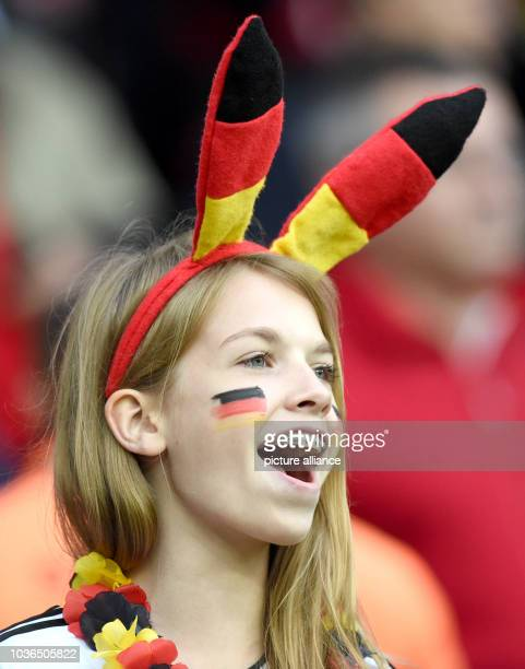 A supporter of Germany cheers during the FIFAWorld Cup 2014 round of 16 soccer match between Germany and Algeria at the Estadio BeiraRio in Porto...