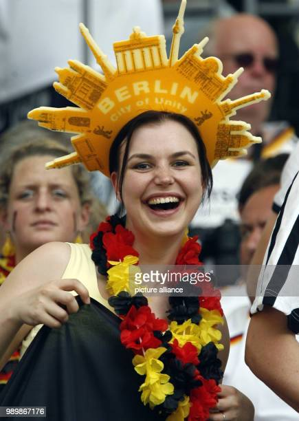 Supporter of Germany prior the group A preliminary match of 2006 FIFA World Cup Ecuador vs Germany at the Olympic Stadium in Berlin, Germany, Tuesday...