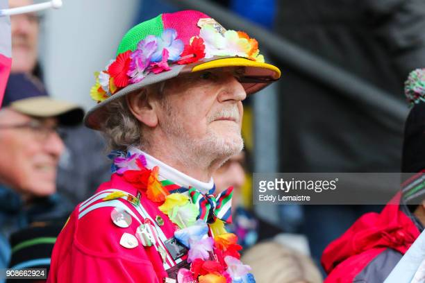 Supporter of Harlequins during the Champions Cup match between La Rochelle and Harlequins on January 21 2018 in La Rochelle France
