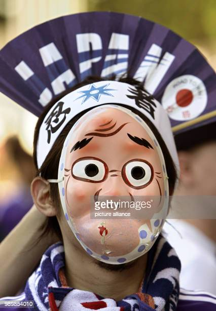 A Supporter of Japan prior the group F match of 2006 FIFA World Cup between Australia and Japan in Kaiserslautern Monday 12 June 2006 DPA/FRANK MAY...