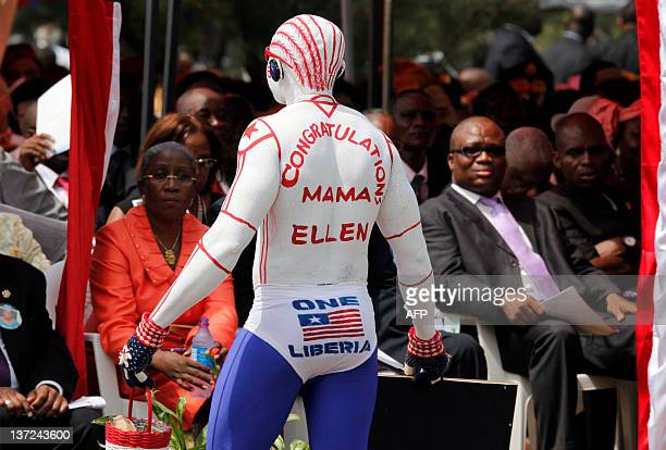A supporter of Liberian President Ellen JohnsonSirleaf attends the ceremony to mark her second presidential inauguration at the Capitol in Monrovia...