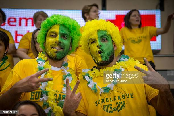 Supporter of Limoges CSP in action during the Turkish Airlines Euroleague Basketball Regular Season Round 9 game between Limoges CSP v Olympiacos...