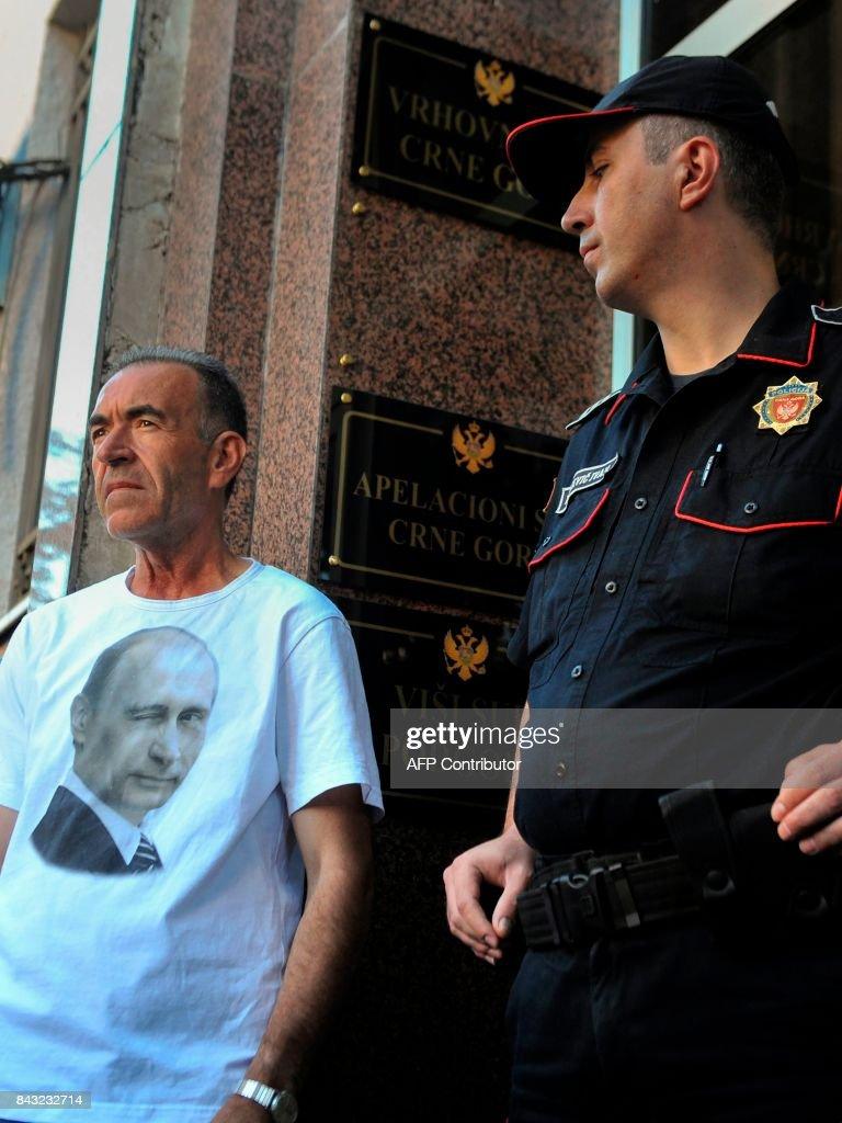 MONTENEGRO-RUSSIA-SERBIA-POLITICS-JUSTICE : News Photo