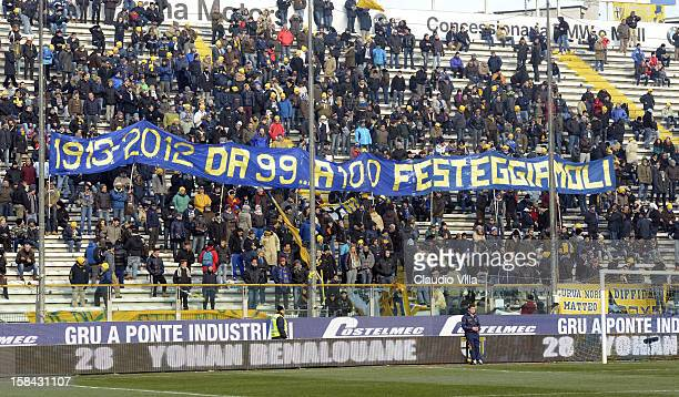 Supporter of Parma FC during the Serie A match between Parma FC and Cagliari Calcio at Stadio Ennio Tardini on December 16 2012 in Parma Italy