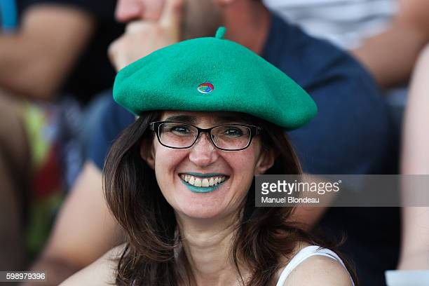 Supporter of Pau during the French Top 14 match between Pau and Bayonne on September 3, 2016 in Pau, France.