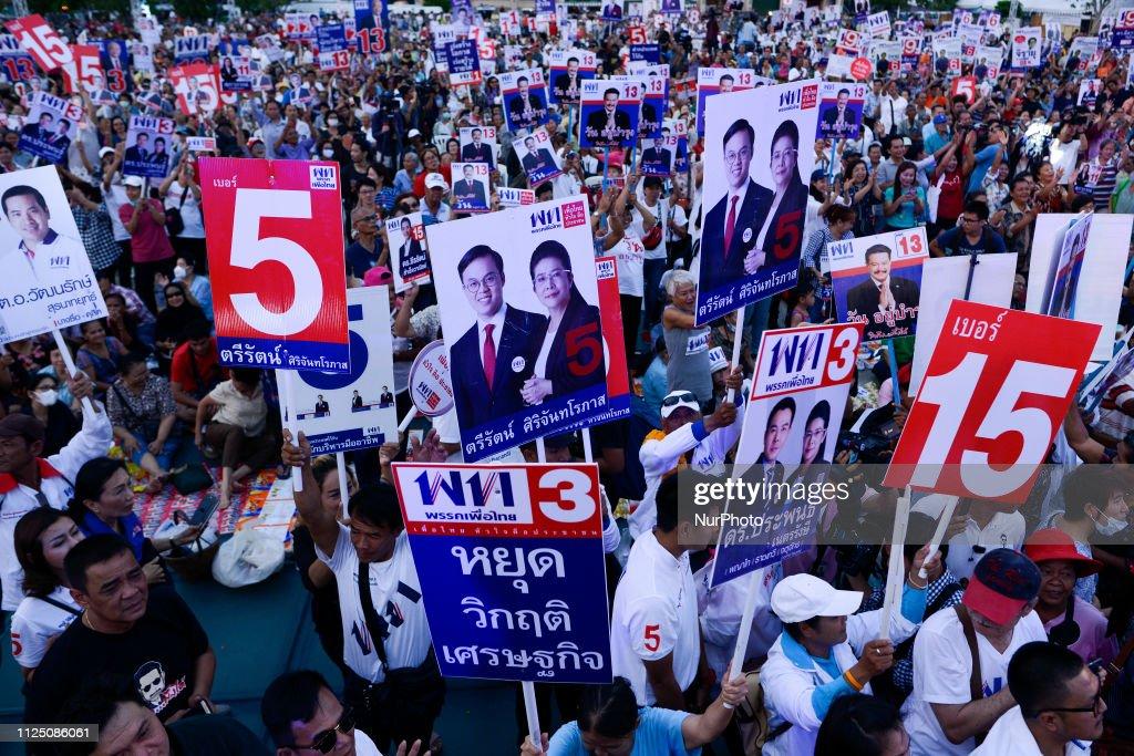 THA: Pheu Thai Party Campaign Election In Bangkok