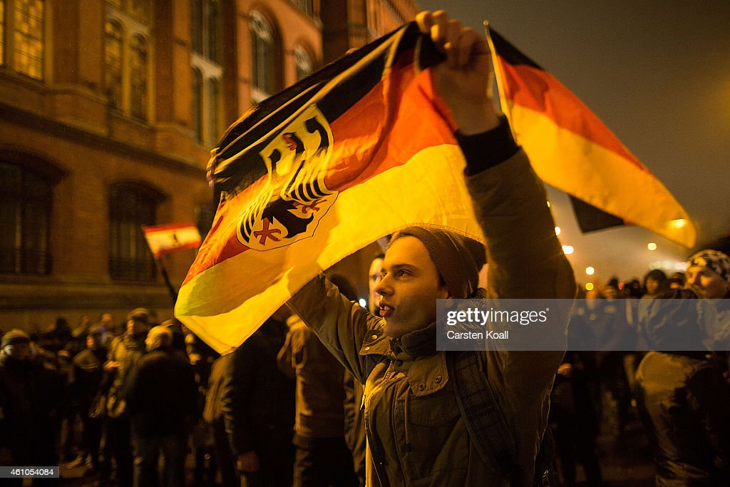 Pegida Protesters March In Berlin : News Photo