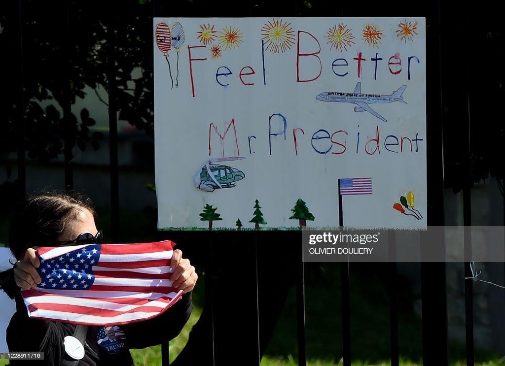 US-HEALTH-VIRUS-VOTE-TRUMP : News Photo