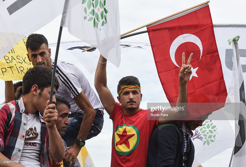 Political Parties Hold Rallies Ahead Of Turkish Parliamentary Election : News Photo