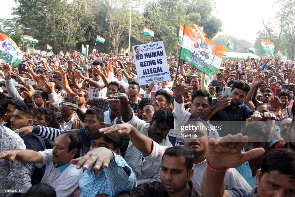 Protest Against CAB In Kolkata : News Photo