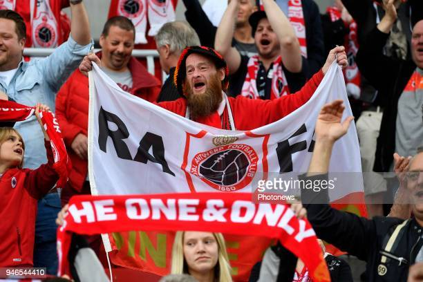 Supporters and Fans during the Jupiler Pro League play off 2 match between Royal Antwerp FC and Beerschot Wilrijk on April 15 2018 in Antwerp Belgium