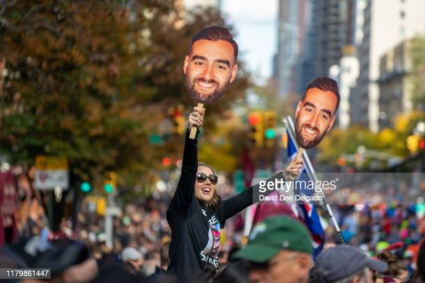 Supporters are seen during the 2019 TCS New York City Marathon on November 3 2019 in New York City