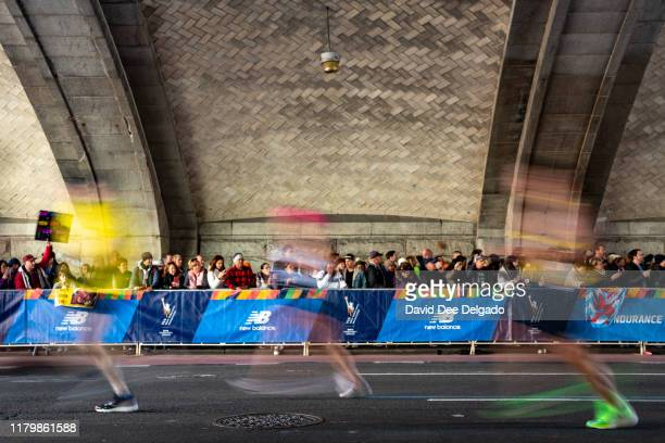 Supporters are seen during the 2019 TCS New York City Marathon on November 3, 2019 in New York City.