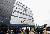 worcester england supporters arrive at sixways