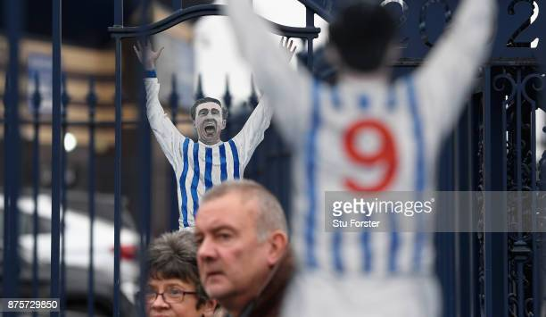 Supporters arrive through the Jeff Astle gates before the Premier League match between West Bromwich Albion and Chelsea at The Hawthorns on November...