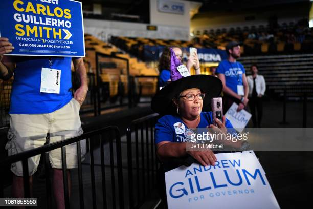 Supporters attend a Get Out the Vote Rally for Democratic gubernatorial candidate Andrew Gillum and other Florida Democrats at the University of...