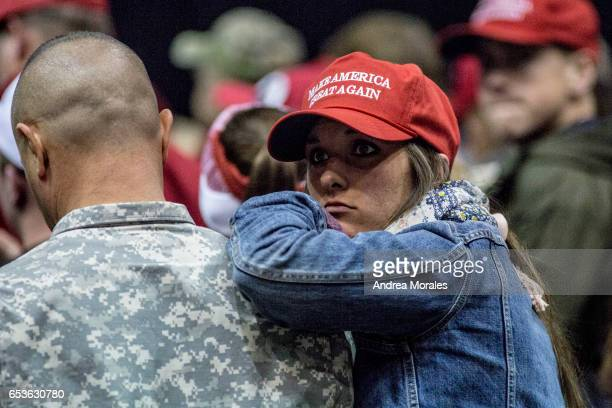 Supporters attend a rally held by President Trump on March 15 2017 in Nashville Tennessee During his speech President Trump promised to repeal and...
