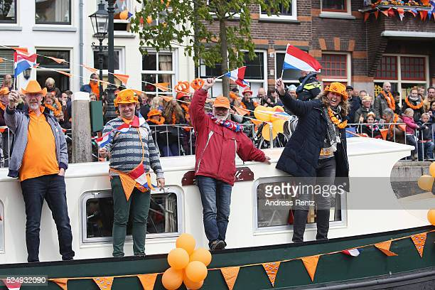 Supporters attend the King's Day , the celebration of the birthday of the Dutch King, on April 27, 2016 in Zwolle, Netherlands. Parties and concerts...