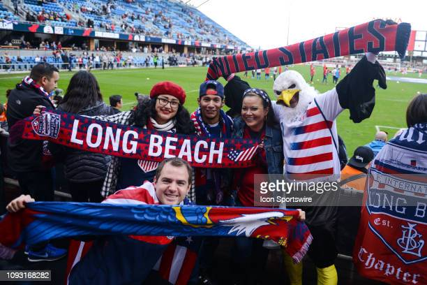 USA supporters before the international friendly match between USA and Costa Rica at Avaya Stadium on February 2 2019 in San Jose CA