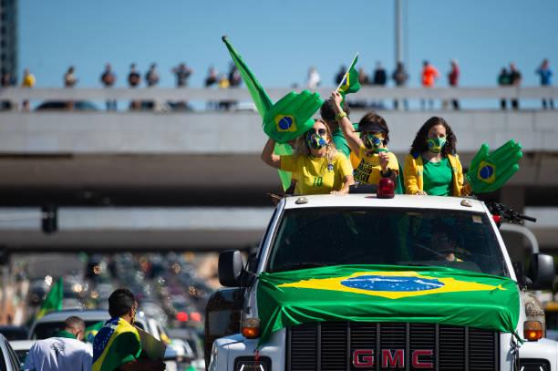 BRA: Bolsonaro Attends Manifestation With His Supporters in Front of Palacio do Planalto Amidst the Coronavirus (COVID - 19) Pandemic