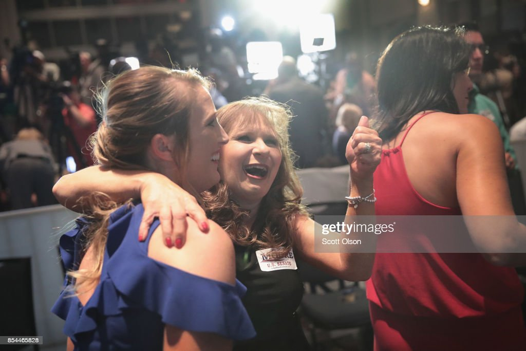 Alabama GOP Senate Candidate Roy Moore Holds Election Night Gathering In Special Election For Session's Seat : News Photo