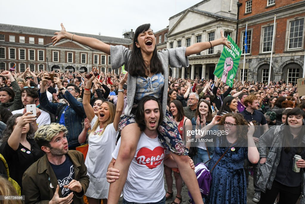Ireland Votes In Favour of Law Reform In Abortion Referendum : News Photo