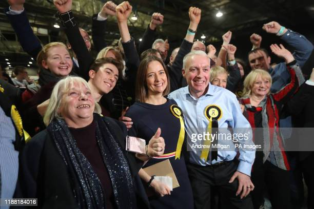 SNP supporters celebrate at the SEC Centre in Glasgow during counting for the 2019 General Election