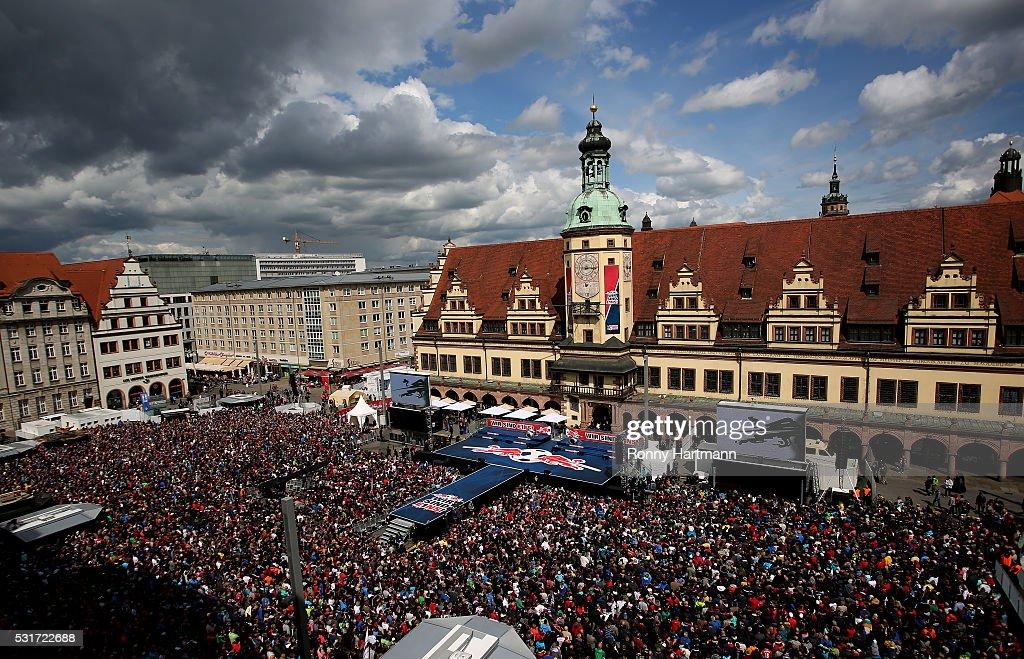 RB Leipzig Celebrates Bundesliga Promotion : News Photo