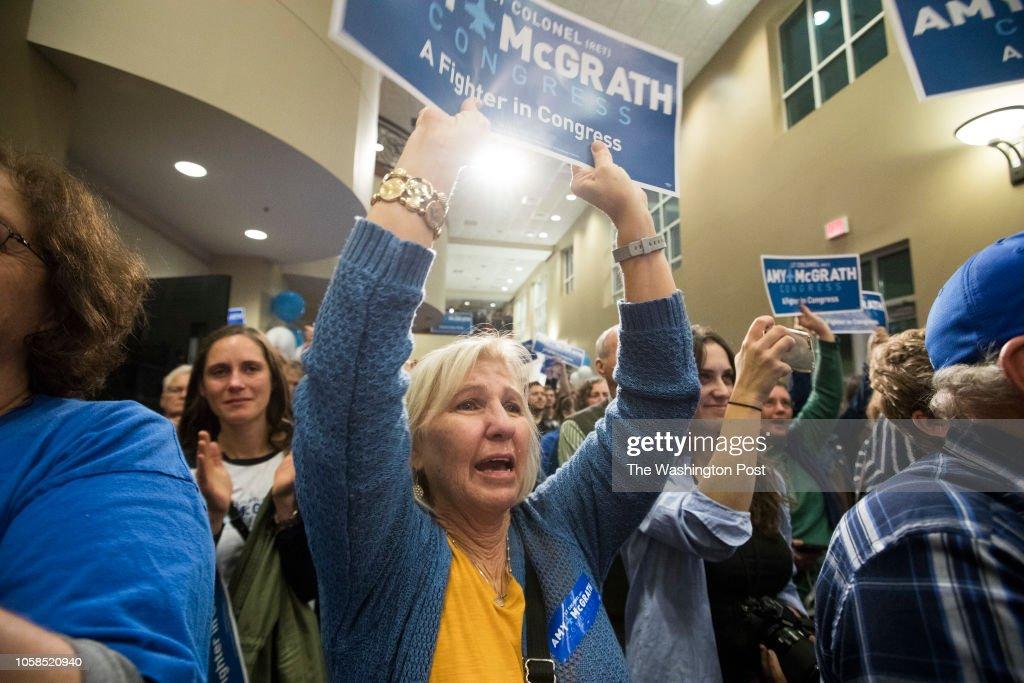 Amy McGrath Election Night Coverage : News Photo