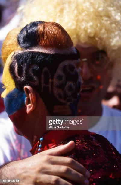 Supporters Colombie Roumanie / Colombie Coupe du Monde 1994 Photo Alain Gadoffre / Icon Sport