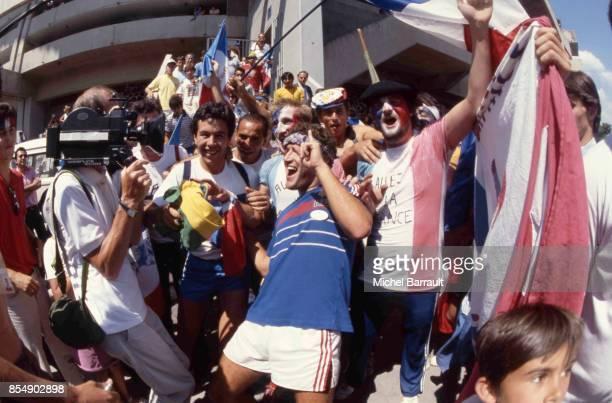 Supporters de l'equipe de France France / Bresil Quart de Finale de la Coupe du Monde 1986
